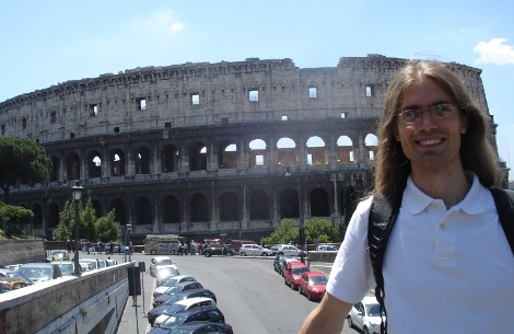 Ben in front of the colloseum